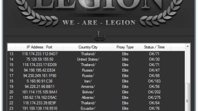 Legion Elite Proxies Grabber v1