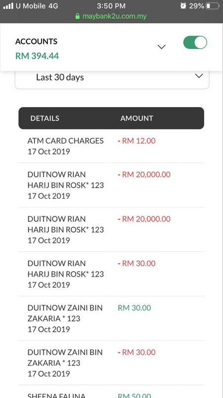 transaksi akaun bank