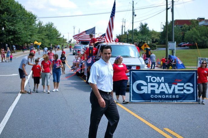 Tom Graves during the election in 2010