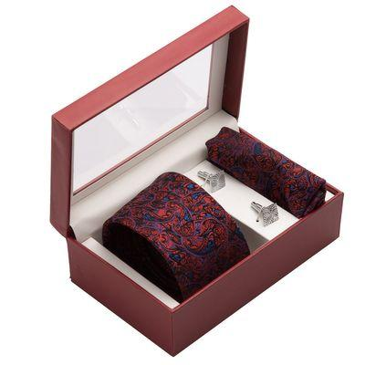 Men's Silk Tie, Pocket Square and Cuff Link Set Black, Best Gift Ideas for Men in India 2019, top birthday gifts for men.