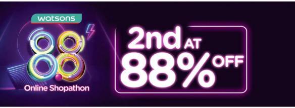 88 % off watsons online shopathon