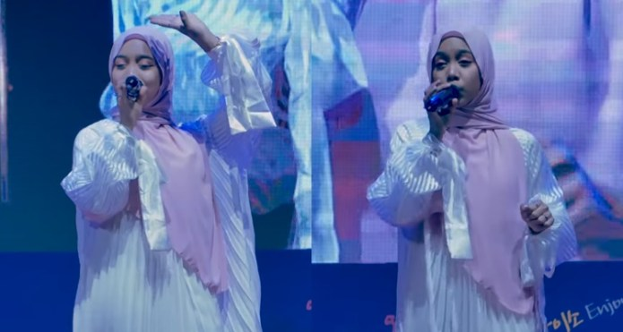 sarah suhairi nyanyi lagu dangdut di busan