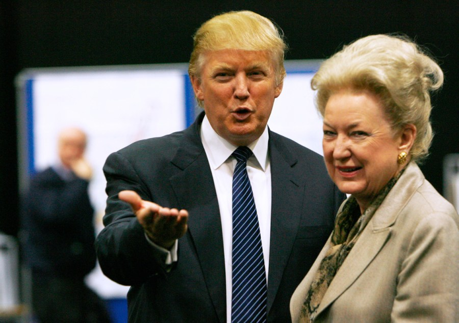 President Donald Trump with his elder sister Maryanne Trump Barry