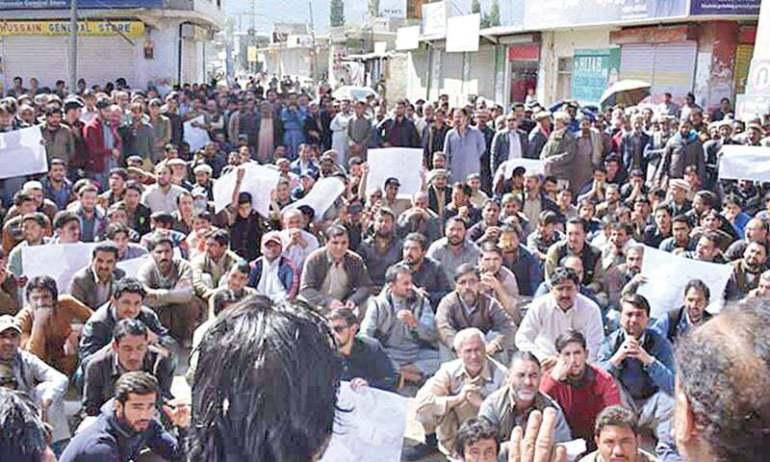 gilgit baltistan protest, Img Src: Dawn