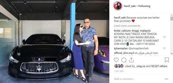 Image result for suami hadiahkan kereta buat anzalna