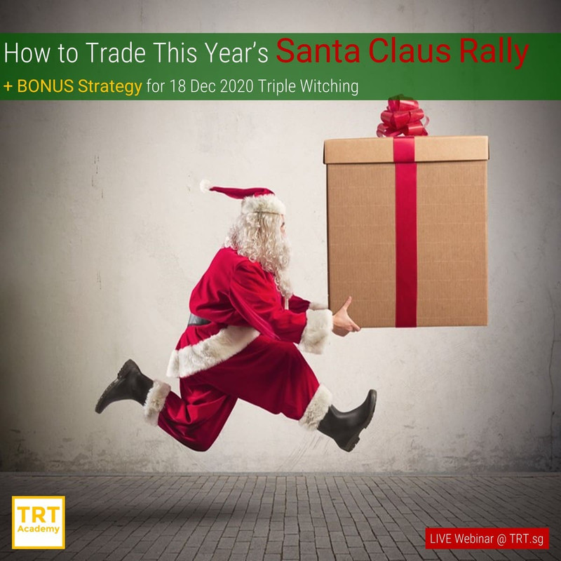 18 December 2020 – [LIVE Webinar @ TRT.sg]  How to Trade This Year's Santa Claus Rally