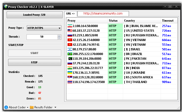 Proxy Checker v0.2 by X-SLAYER