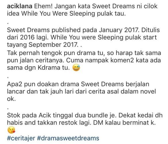 sweet dreams novel