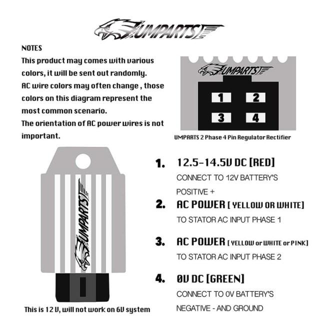 half wave 12v rectifier regulator solution for puch and