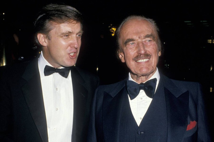 Donald Trump with his father Fred Trump