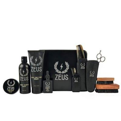 Zeus Ultimate Beard Care Kit Gift Set for Men - The Complete Beard growth