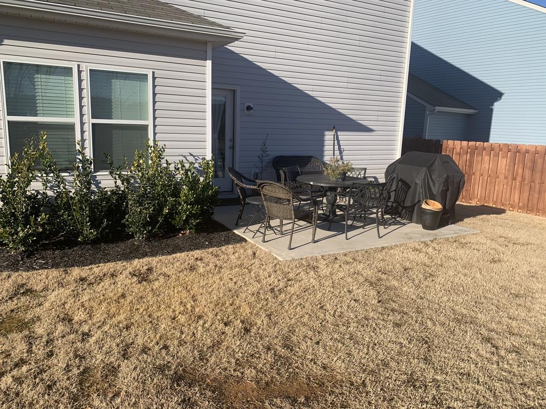 adding more patio to a concrete slab