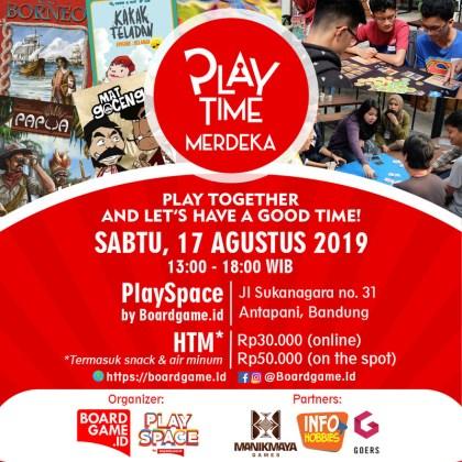 Poster Agustusan PlayTime Merdeka