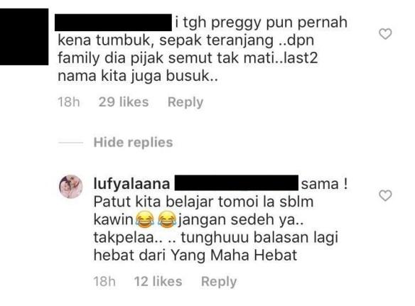 lufya dipukul suami ketika hamil
