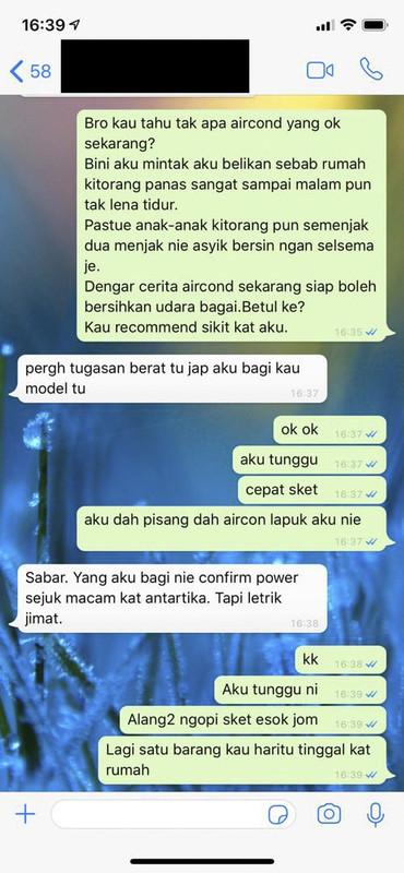 chat perbualan di WhatsApp dua sahabat