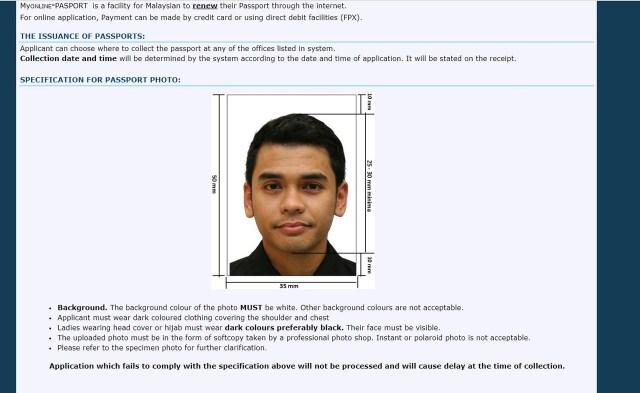 spesifikasi gambar passport