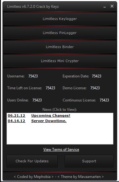 Limitless Keylogger v6.7