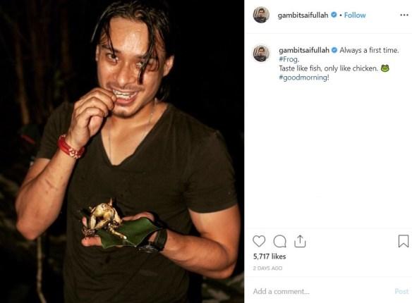 gambit saifullah makan katak