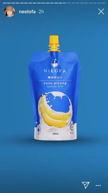 neelofa keluarkan produk susu pisang nilofa