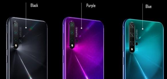 Huawei Nova 5T terdapat 3 pilihan warna