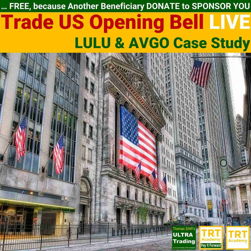 Yes! Send Me the Video – Trade US Opening Bell LIVE – LULU & AVGO Case Study