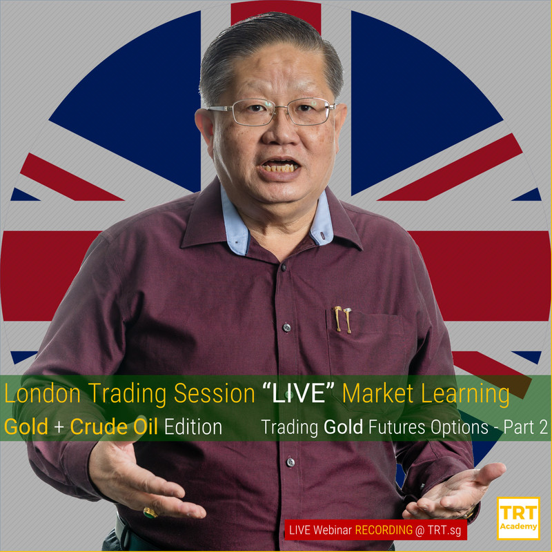 """London Trading Session """"LIVE"""" Market Learning – Gold + Crude Oil Edition – Trading Gold Futures Options – Part 2"""