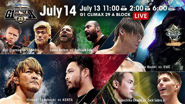 NJPW G1 Climax 29 14/07/2019 Day 3