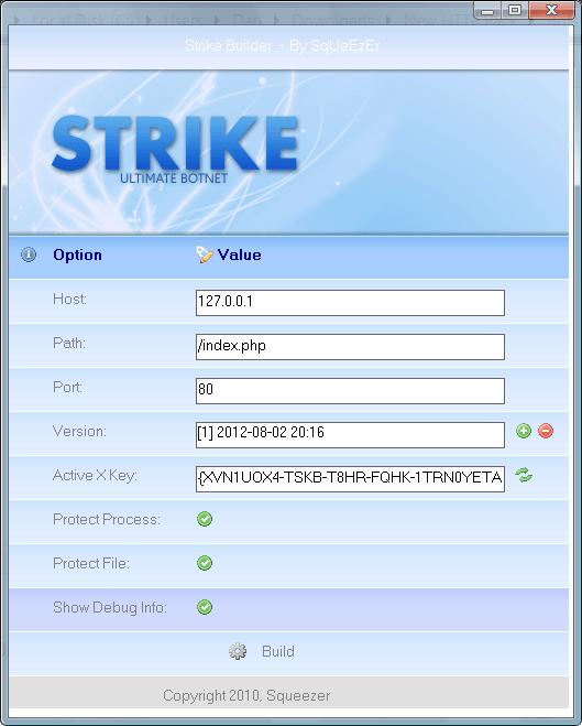 Strike Botnet+Panel