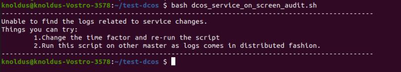 DC/OS Service Audit Fail