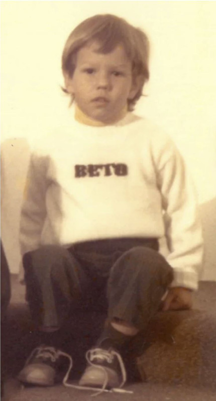 Beto O'Rourke in his childhood