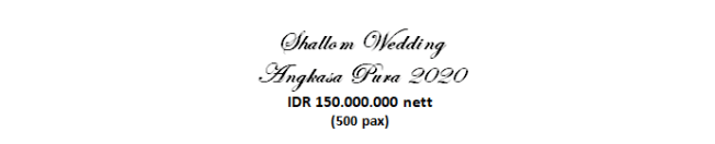 paket pernikahan jakarta lengkap di angkasa pura murah dengan vendor berpengalaman