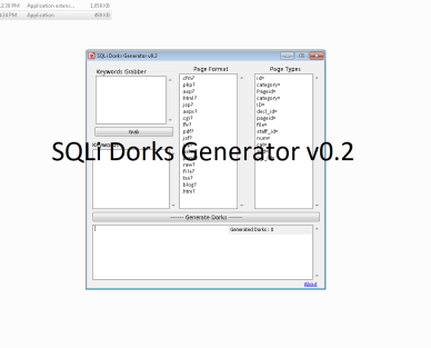 SQLi Dorks Generator v0.2