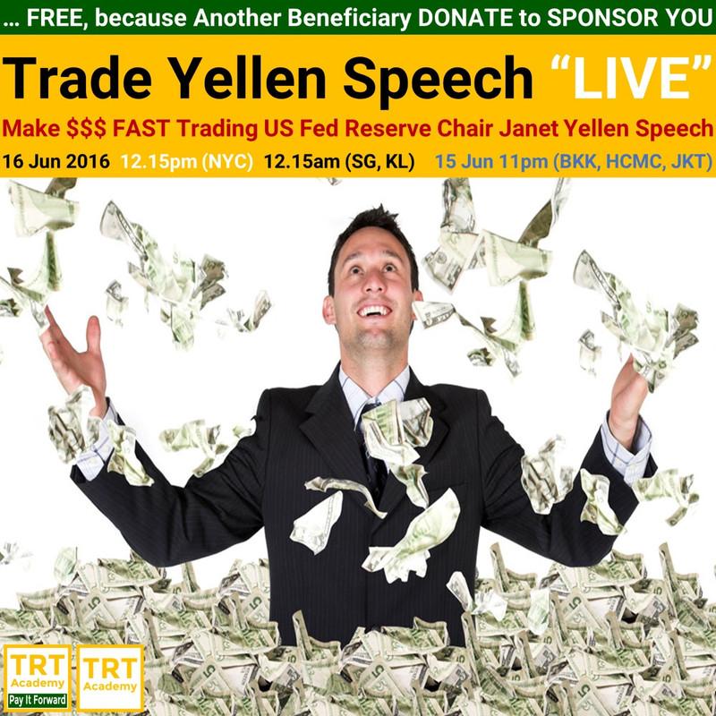 Yes! Send Me the Video – Trade Yellen Speech LIVE