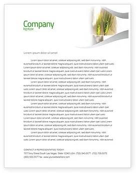Work On The Farm Letterhead Template Layout For Microsoft