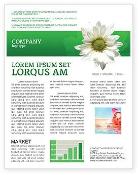 ox eye daisy newsletter template for microsoft word amp adobe indesign