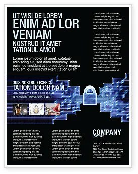 Cyber Security Flyer Templates Design Flyer Templates For