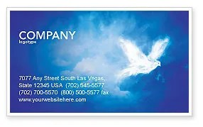Peace Dove Business Card Template Layout Download