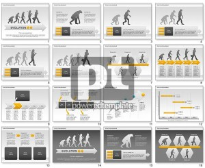Evolution Diagram for PowerPoint Presentations, Download Now 00934 | PoweredTemplate