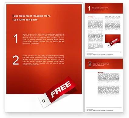 Label Free Word Template 02865 Poweredtemplate Com