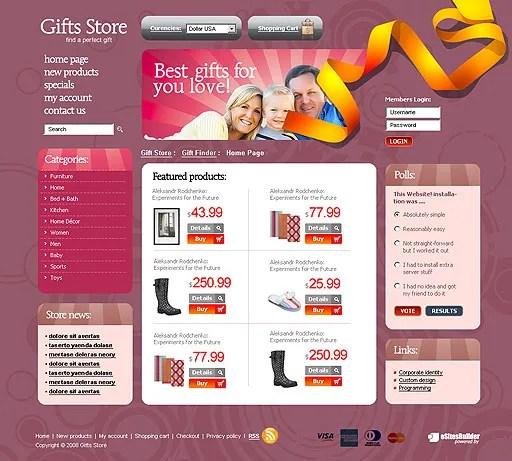 Gift Shop Web Design images