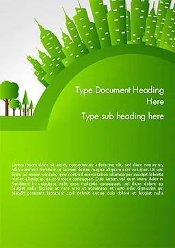 Green City Concept Word Template 14299