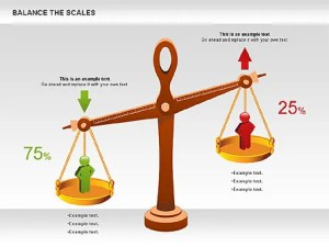 Balance the Scales Diagram  Presentation Template for