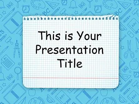 School Free Google Slides Theme Poweredtemplate Com
