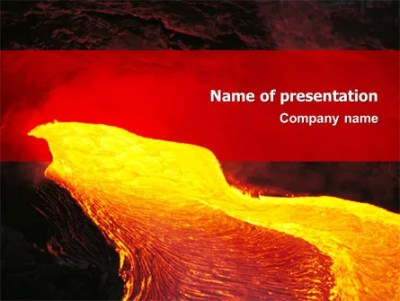 Volcano Lava PowerPoint Template, Backgrounds | 03049 ...