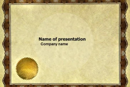 Certificate PowerPoint Template  Backgrounds   04029     Certificate PowerPoint Template