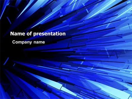 Blue Crystal Free Powerpoint Template Backgrounds 05679