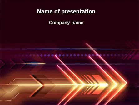 Neon Orange Arrow Free Presentation Template For Google