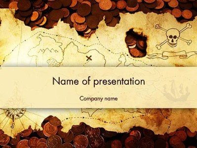 Pirate Treasure Map PowerPoint Template  Backgrounds   12567     Pirate Treasure Map PowerPoint Template