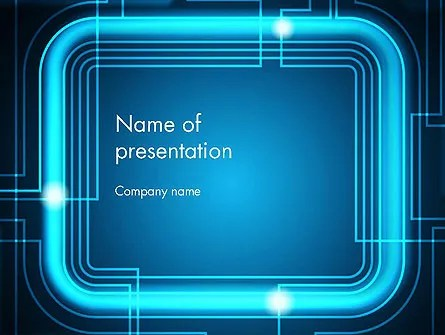 Neon Frame Abstract Powerpoint Template Backgrounds 13074