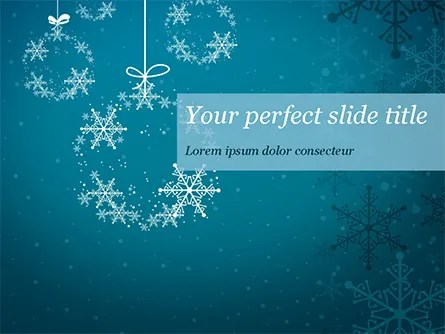 Snowflakes Crystal Balls Powerpoint Template Backgrounds